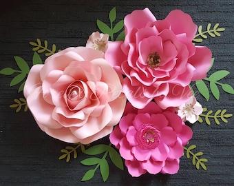 Set of 5 Paper Flowers** BIRTHDAY/ANNIVERSARY/WEDDING