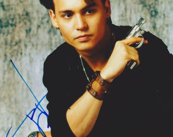 Johnny Depp Vintage Original Hand Signed 8X10 Autograph Photo