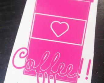 Coffee Cup Vinyl Decal, Cup Decal, Mug Decal, Coffee Decal, Car Decal, Vinyl Decal, Yeti Decal, Custom Gift