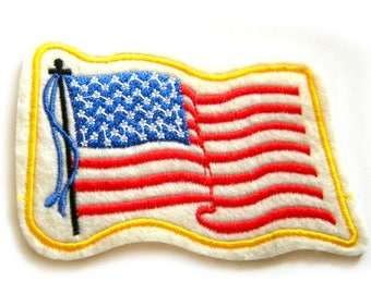 American Flag Embroidered Patch Appliqué