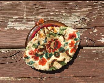 Vintage Mini Floral Pouch