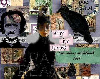 Edgar Allan Poe Printable TRAVELERS NOTEBOOK Kit  Midori Insert  midori travelers notebook set  standard travelers notebook inserts