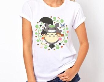Totoro Shirt - Women's Clearance Totoro Studio Ghibli T-Shirt - Miyazaki Shirt - Studio Ghibli Shirt