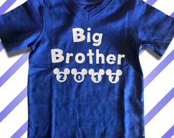 Big Brother - Disney Vacation Shirts - Personalized Big Brother Shirts. Maternity Announcement or Family Vacation!