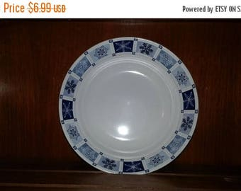 ON SALE REDUCED New Sakura Winter Frost Soup Cereal Bowl Dark & Light Blue Snowflakes Dinnerware 7.5 inches