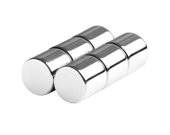 1/2 x 1/2 Inch (12.7 x 12.7 mm) Neodymium Rare Earth Cylinder Magnets N48 (6 Pack)