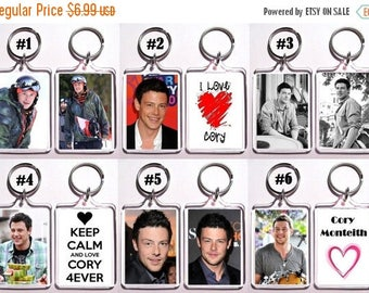 ON SALE NOW Cory Monteith Keychain Key Ring - Many Designs To Choose From