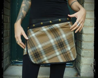 Skirt with snaps, Plaid, Plaid, lightweight wrap skirt wool skirt, handmade