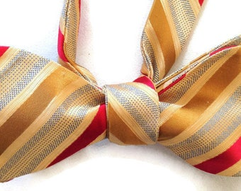 Silk Bow Tie for Men - Celebration - One-of-a-Kind, Handcrafted, Self-tie - Free Shipping