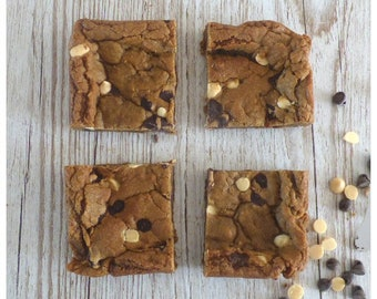Chocolate and Orange Chip Cookie Squares (Box of 4 or 9 squares)
