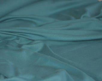 Pagoda Blue - C-Pauli Solid - Organic Cotton Double knit UK Seller