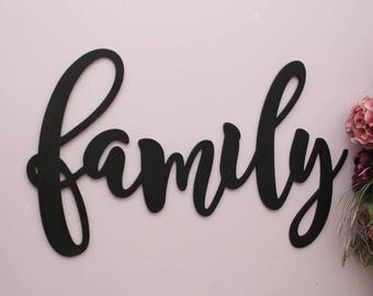 Family Wood Letters, Personalized Large Wooden Letter, Housewarming Gift, Family Sign, Fireplace Mantle Decor, Family Wall Decor, Home Decor