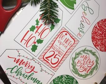 FREE Downloadable Christmas Gift Tags