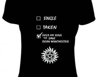 supernatural dean winchester women t-shirt