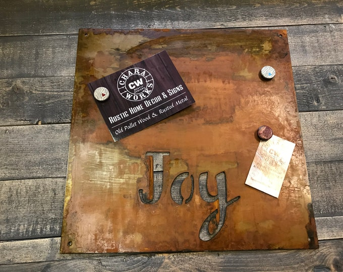 Magnet Board, Magnetic Boards, Bulletin boards, Office Message Board, Rusted Metal Sign, Thankful Sign, Organizational Board, Kid's room