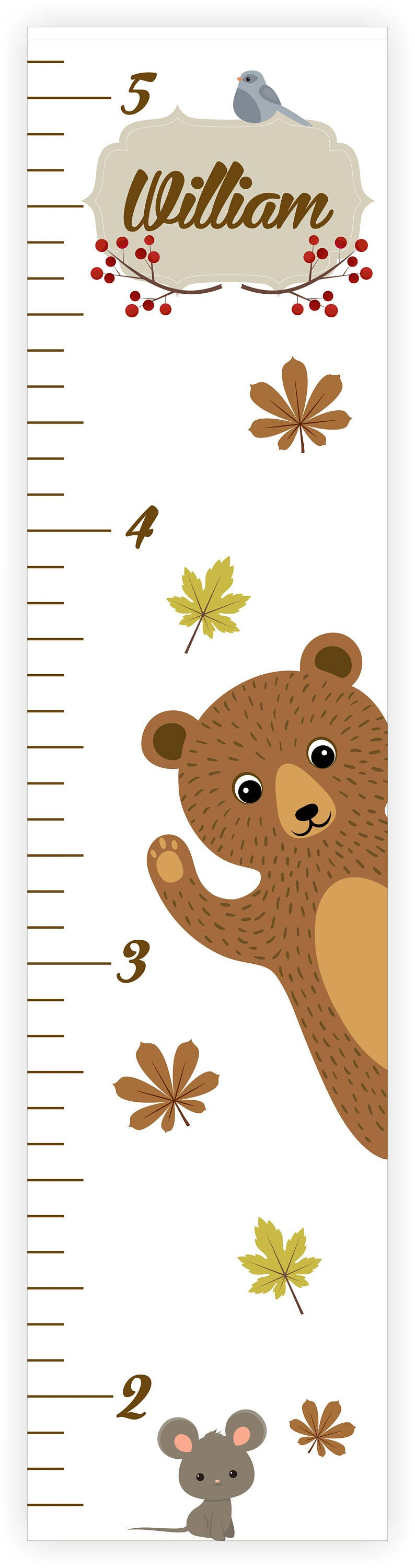 Customizable childrens growth chart personalized growth chart customizable childrens growth chart personalized growth chart forest animals growth chart kids height ruler forest animals nvjuhfo Image collections