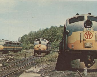 New York Ontario & Western 802 Railroad Train Vintage Postcard 1210