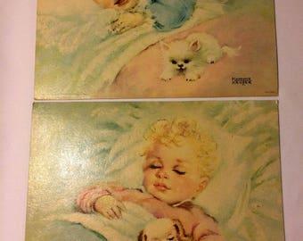 Vintage Florence Kroger Lithographs - Set of 2