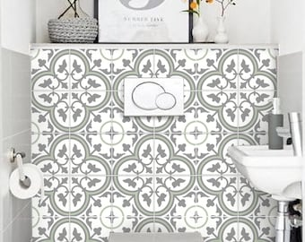 Tile Stickers Vinyl Decal WATERPROOF REMOVABLE For Kitchen Bath Wall Floor  R12