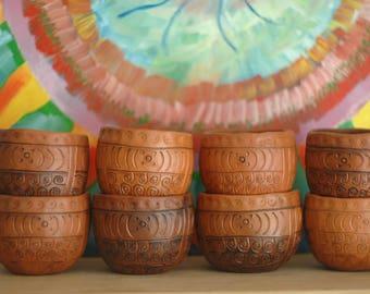 Set of cups 8. Family ceramic.