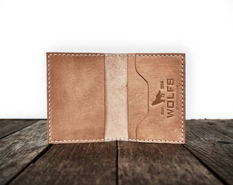 Wallet, Leather Wallet, Slim Wallet, Minimalist - Everyday Wallet (beige)
