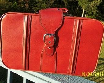 Faux leather luggage | Etsy