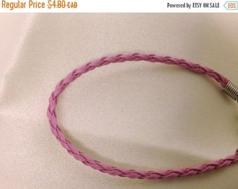 Clearance sale Light Pink Leather Braided Bracelet , men , women, teens, simple , clean, wrist, gift