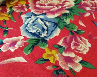 chinese fabrics traditional red LAO HUA 0.5m