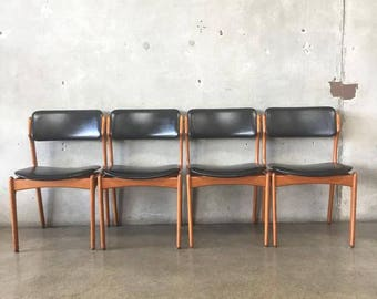 Set of Four Mid Century Erik Buck Dining Chairs (A9SCCH)
