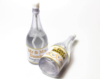Personalised Bubble Bottles  ( Select from 5 to 36 Bottles) - Wedding Design in various colours