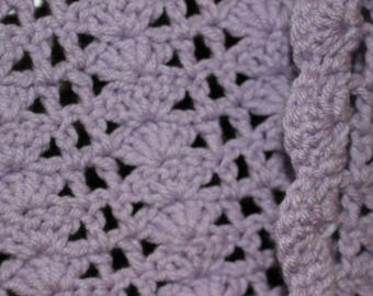 Crochet Baby/Toddler Blanket - Purple