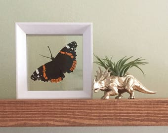 Red Admiral Papercut Butterfly
