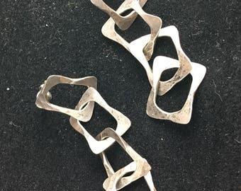 modernist sterling silver earrings