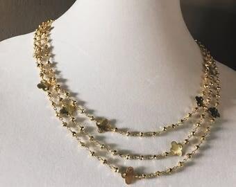 Gold Quatrefoil Layering Necklace