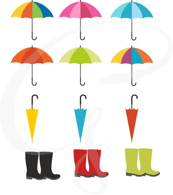umbrella clipart wellies galoshes rain boots digital clip art rh catchmyparty com free printable clipart for scrapbooking free printable clipart for scrapbooking