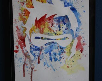 Soldier 76 Overwatch Splatter Painting