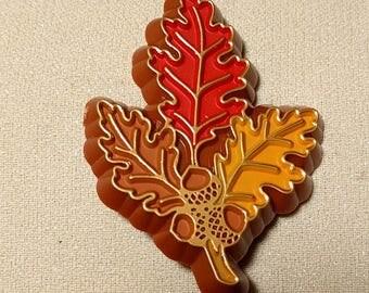Vintage Hallmark Autumn Leaf Lapel Pin