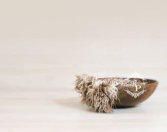 DIGITAL Newborn Prop/Wood Bowl/Tan Brown Cream/Photography Prop/Newborn Prop/Digital Backdrop/Digital Download