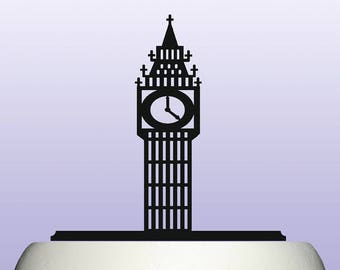 Acrylic Big Ben Clock Tower British London Icon Tourist Symbol Cake Topper Cake Topper