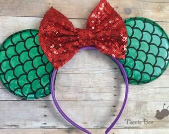 Little Mermaid Ears - Ariel Mickey Ears - Ariel Ears - Little Mermaid Mickey Ears - Mermaid Ears - Little Mermaid Minnie Ears - Ariel DIsney