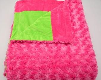 Fuchsia & Lime Blanket