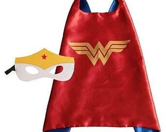 Wonder woman superhero cape & mask set