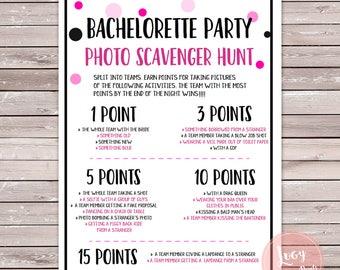 Bachelorette Party Photo Scavenger Hunt Instant Download