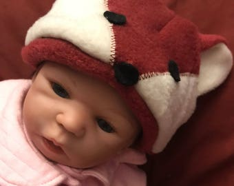 Podunk hats for baby Fox- infant-3/6m