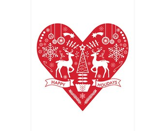 Nordic Christmas Poster - Downloadable Print