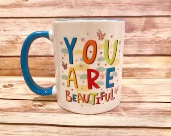 Inspirational Two-Toned Coffee Mug
