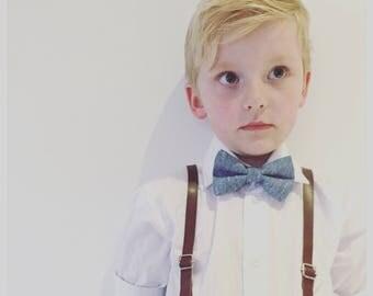Vintage Denim Bow Tie