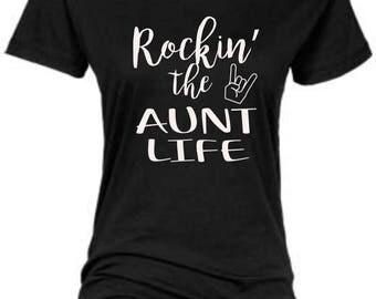 Rockin The Aunt Life/Regular Vinyl Crewneck Shirt