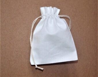 White Cotton Bags * Cotton Bags Wholesale * Cotton Plain Drawstring Bags * 25 pcs Canvas Bags * 9cm x 11cm