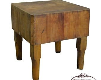 vintage antique maple butcher block table by bally block co